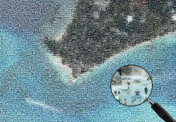 South cap of Bora-Bora seen from Google Earth