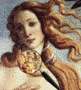 Peinture de Venus en mosaïque d'images de femmes