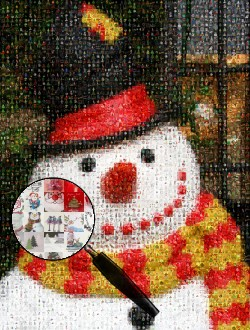 Christmas, Santa, snowmen, garland and gift images