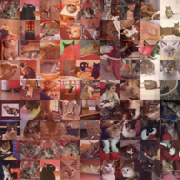 Cat photo mosaic done on www.Pictosaic.com - Total number of tiles: 2400 - Sample version