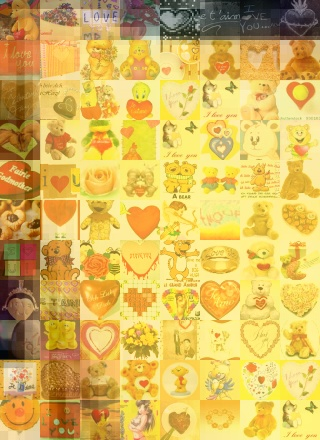 Photo mosaic example with high merge made on www.pictosaic.com - Total number of tiles: 2400 - Sample version